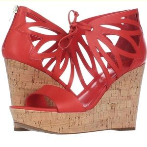 Ivanka Trump Hopela Platform wedge sandals In Red